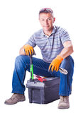 Man worker sitting Royalty Free Stock Photo