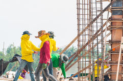 The man workers at construction site Stock Image