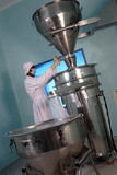 Man working. In pharmaceutical  plant Stock Images