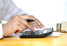 Man working on accounting Royalty Free Stock Image