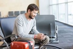 Man working at airport Royalty Free Stock Photography