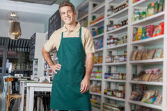 Man working as a salesman Royalty Free Stock Photography