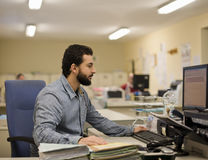Man Working At Office Stock Image