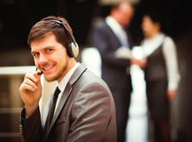 Man working at callcenter Royalty Free Stock Photos