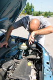 Man working on car engine Royalty Free Stock Photography