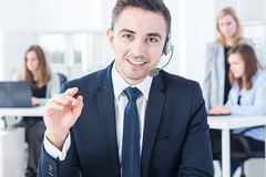 Man working in corporation Royalty Free Stock Photo