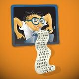 Man working - creative illustration Stock Photo