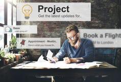 Man Working Determine Workspace Lifestyle Concept Stock Image