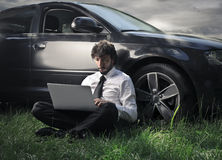 Man working in a field Stock Photos