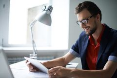 Man working Stock Photo
