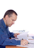 Man at his desk Royalty Free Stock Photo
