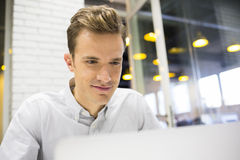 Man working at his laptop on the office Stock Image