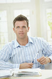 Man working at home Royalty Free Stock Images