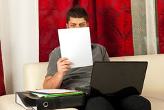 Man working home Stock Photography