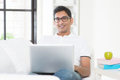 Man working from home concept Stock Photography