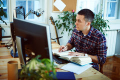 Man working at home Stock Photos