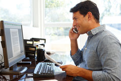Man working in home office Stock Image