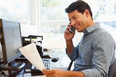 Man working in home office Royalty Free Stock Images