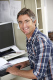 Man Working In Home Office Royalty Free Stock Photo