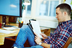 Man working at home Royalty Free Stock Image