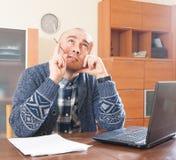 Man working at home Stock Photos