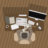 The man working icon great for any use. Vector EPS10. Stock Photos