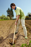 Man working the land Royalty Free Stock Photo