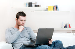 Man working on laptop Royalty Free Stock Image