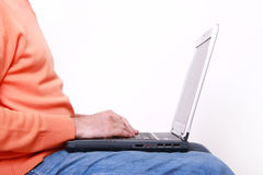 Man working on a laptop Stock Image