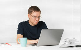 Man working with laptop Stock Photos