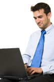 Man working on laptop Royalty Free Stock Photography