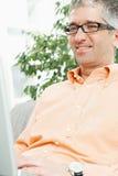 Man working on laptop Royalty Free Stock Image