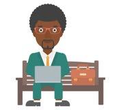 Man working on laptop. Stock Photos