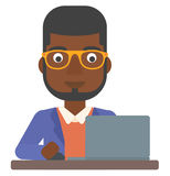 Man working at laptop. Royalty Free Stock Images