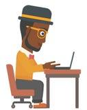Man working at laptop. Stock Image