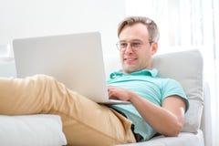 Man working with laptop Stock Photos