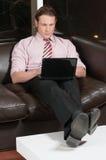 Man working on laptop Royalty Free Stock Photos
