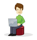 Man working with laptop Royalty Free Stock Images