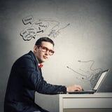 Man working on laptop Royalty Free Stock Images