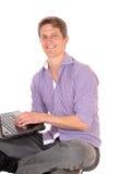 Man working on laptop. Royalty Free Stock Photo