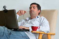 Man Working or learning from home Royalty Free Stock Photos