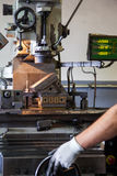 Man Working in Manufacturing Stock Photography