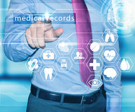 Man working with medical records Royalty Free Stock Photos