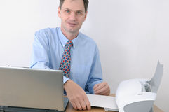 Man working in office royalty free stock photo