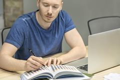 Man working in office Stock Images