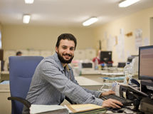 Man working at office Stock Photography