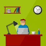 Man working in the office Stock Photo