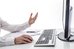 Man working online Stock Images
