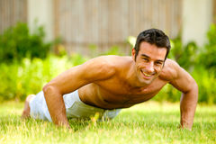 Man Working Out Royalty Free Stock Photography