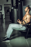 Man working out Stock Image
